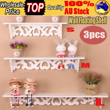 3 in 1 Wall Floating Shelf Set Concealed Shelves Bookshelf Display Storage Home