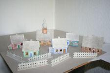 Erzgebirge,Häuser und Zäune aus Holz/Pappe