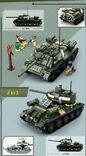 WW2 WWII Soviet Union Russian T-34 T34 T-85 T85 tank World War 2 (II) MOC Russia