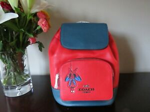 Coach X Marvel Spider Man Jes Leather Backpack (Miami Red)-NWT (2901)