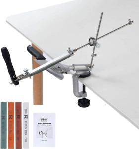 Ruixin Pro Aluminium Alloy Knife Sharpener System 360 Degree Flip Constant Angle
