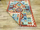 Vintage Kilim Traditional Handmade Rug Multicolor Woollen Kilim 120 x 180 cm
