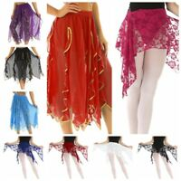 Belly Dance Costume Hip Scarf Wrap Skirt Women Maxi Tribal Chiffon Dance Skirts