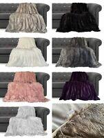 Super Soft Large Throws Blanket Cuddly  Faux Fur Fluffy Throw over 150cm x 200cm