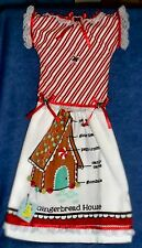 **NEW** Gingerbread House Plans Holiday Oven Door Dress Kitchen Hand Towel #471