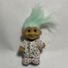 "Russ 4"" Easter Troll Jelly bean polka dot eggs Pajama Blue hair"