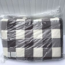 NEW Pottery Barn BUFFALO CHECK Full Queen QUILT GRAY NWT           **FREE SHIP**