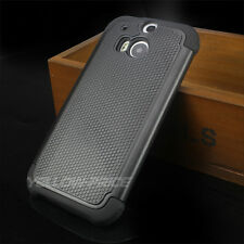 Slim Hybrid Hard Soft Armor Protective Case Shockproof Cover For HTC ONE M8