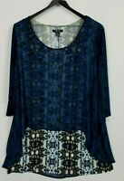 Style & Co. Woman Size 3X Embellished Layered 3/4 Sleeve Stretchy Knit Tunic Top