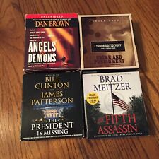 audio books on cd lot mystery 70hrs $140 Value James Patterson  Dan Brown