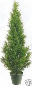 ONE 3 foot CEDAR INDOOR OUTDOOR UV RATED TOPIARY TREE ARTIFICIAL CYPRESS JUNIPER