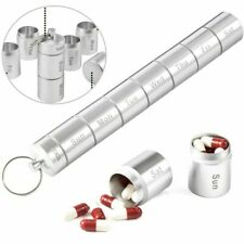 7 Day Pills Box Medicine Dispenser Organizer Storage Case Waterproof Keychains