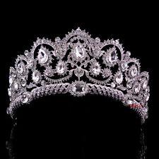 Luxus 6cm hoch Königin Hochzeit Braut Haarschmuck Haarreif Krone Diademe Tiara