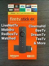 Fire Stick 4K w/all-new Alexa Voice Remote, Streaming Media 2020 🔥🔐