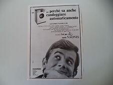 advertising Pubblicità 1968 LAVATRICE NAONIS G 455