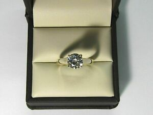 2.00 Ct Round Cut Diamond Engagement Ring 14K Yellow Gold Over