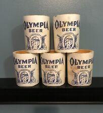 5 Vintage Olympia Beer Foam Kan Handler Can Cooler Koozie Advertising