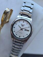 Vintage White 1979 SEIKO 5 Men's Japan Automatic Watch 7009-3070 70s