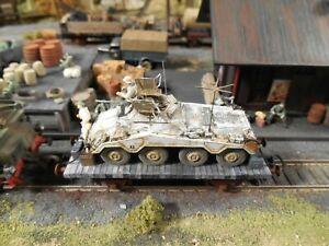 HO Roco Minitanks Artitec 9th Panzer Armored Car Railway Car Hand Painted #A1233