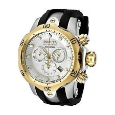 Invicta Men's 0946 Venom Reserve Chrono Gold Silver Dial Watch