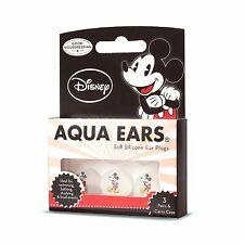 2 x Mickey Mouse soft silicone swimming earplugs for kids- 6 Pair