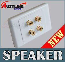 2 Speaker Wall Plate 4Port Datamaser for Home theatre