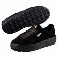 [365830-01] New Women's PUMA Platform Trace Sneakers - Black MSRP $90