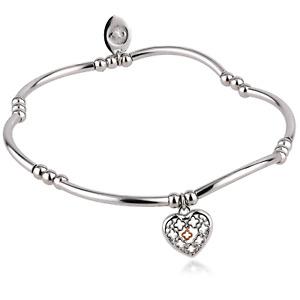 Clogau Silver Bracelet Beaded 7'' 925 Sterling Affinity Heart Tudor Court Stretc