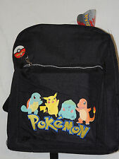 "NEW WITH TAGS ~POKEMON BACKPACK NINTENDO , EMBROIDERED  LETTERS-  14"" X 12"""