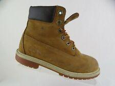 TIMBERLAND Lace-Up Wheat Sz 4 Kids Waterproof Boots