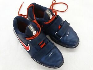 Nike Romaleos 2 Men's Weightlifting Shoes Blue & Red 476927-460 Size 6.5