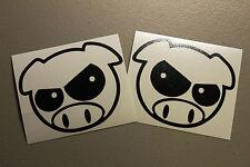 Evil Rally Pig Sticker Set Decal Subaru WRX STi JDM Vinyl Impreza Legacy GT