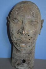 Very large (45 cm Tall) Mid  20th Century African Benin Bronze Bust, c1950