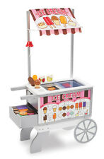 Melissa & Doug Snacks & Sweets Food Cart + Over 40 Pieces of Food  9350