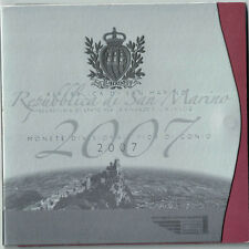 [#49445] San Marino, Set, 1 Cent to 5 Euro, 2007, FDC, Bi-Metallic