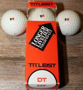 Rare Vintage Combustion Engineering C-E Titleist DT Golf Ball Sleeve - 3 Balls