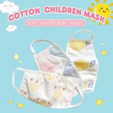 3PCS Kids Children Cotton Face Mask Anti Haze