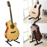 Folding Guitar Floor Stand Holder A Frame Universal Fits Acoustic Electric Bass