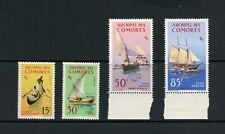 U035  Comoros  1964   boats ships  4v.  MNH