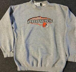 Vtg 90s Cleveland Browns Sweatshirt L Orange Indians Jersey Odell Beckham Baker