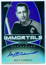 "MILT SCHMIDT ""IMMORTALS AUTOGRAPH #9/10"" LEAF METAL DRAFT HOCKEY 2016"