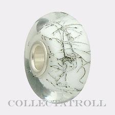 Authentic Trollbeads Silver White Steel Trollbead  61303   TGLBE-10233