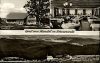 Berg Kandel Schwarzwald bei St. Peter AK ~1950/60 Panorama Bergkapelle Kandelhof