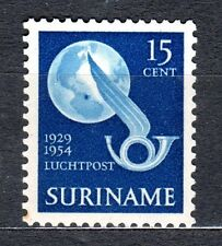 Suriname - 1954 25 years airmail / Charles Lindbergh Mi. 346 MNH (gum discolored