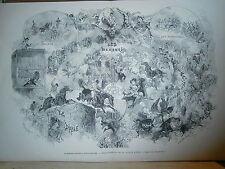 Gravure 19° Hippodrome Inauguration de la saison d'été 1880 par Edmond Morin