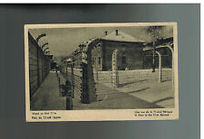 Mint 1940s Auschwitz Concentration Camp real picture Postcard Barracks 11 RPPC