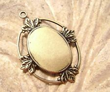 1160 - Antiqued Brass Oval Cabochon Frame Bezel Setting for 18x13mm Cab