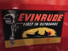 Vintage toy Evinrude outboard motor decal, scale Rc garage, vintage toy outboard
