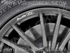 8x Audi Logo Premium Cast Wheel Rim Decals Stickers A3 A4 TT RS Quattro S-line