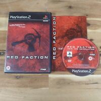 Red Faction (Sony PlayStation 2, 2001) Boxed & Complete With Manual